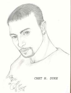 Chet Duke as drawn by Denise Wallan