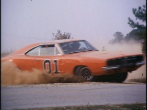 General Lee racing through Hazzard County