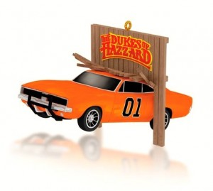 Jumpin' General Lee Dukes of Hazzard ornament